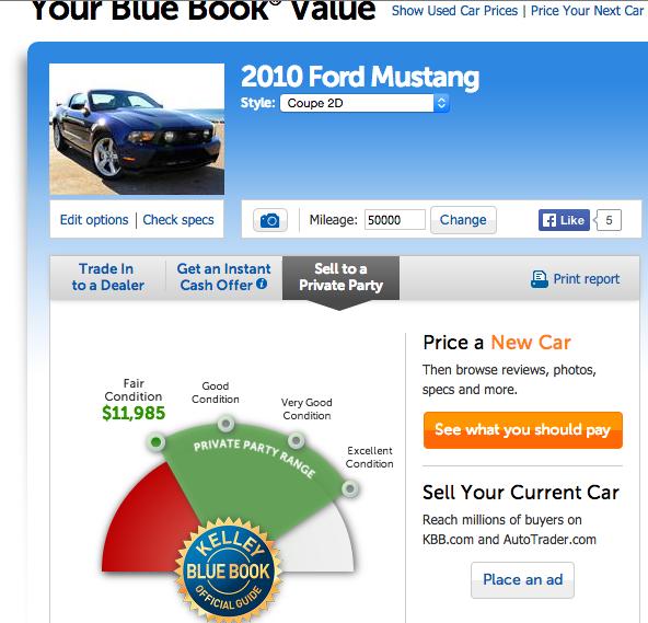 芝加哥地区出售2010年红色Mustang