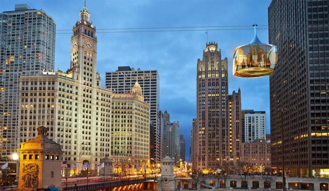 """""""天际线""""观光缆车:芝加哥旅游新计划出台"""