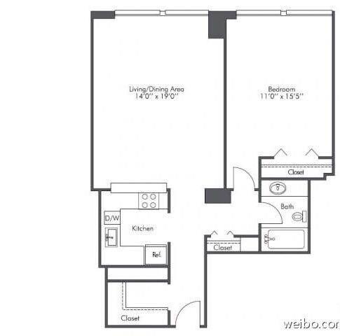 Downtown 高层公寓 提供短租