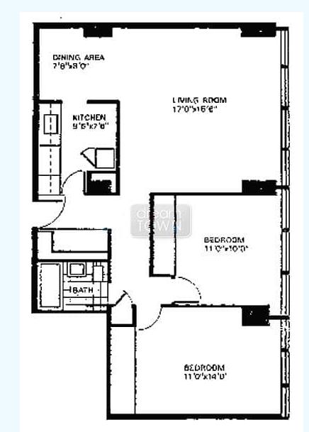 芝加哥 downtown Lake View地区 2B/1B 公寓找女生合租