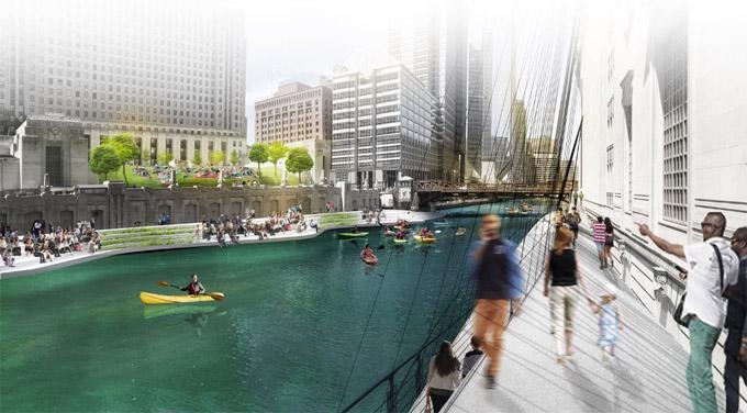 芝加哥河畔走廊将延伸到中国城